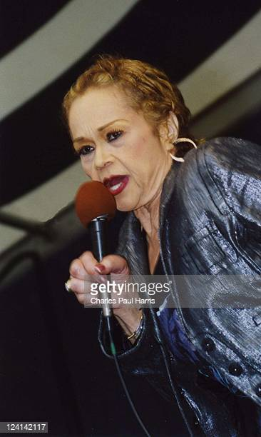 Soul singer Etta James performs live at the New Orleans JazzFest on April 29, 2006 in New Orleans, Louisiana.
