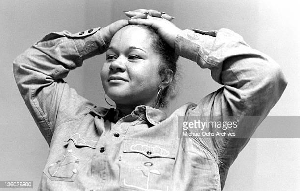 Soul singer Etta James poses for a portrait circa 1974 in New York City New York