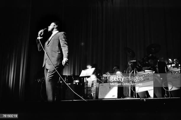 Soul singer Garnet Mimms performs circa mid1964 at the Apollo Theater in Harlem New York