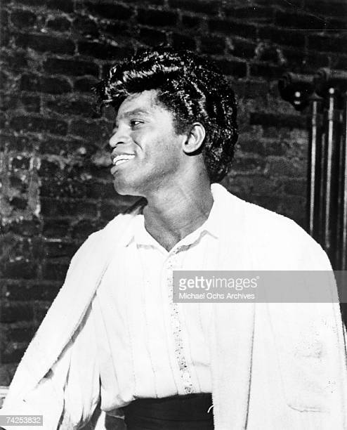 Soul singer James Brown poses for a portrait in 1965