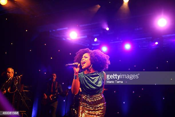 Soul singer Jesuton performs at the historic Teatro Rival on June 4, 2014 in Rio de Janeiro, Brazil. The famed 80-year-old theater is a hub of Rio...