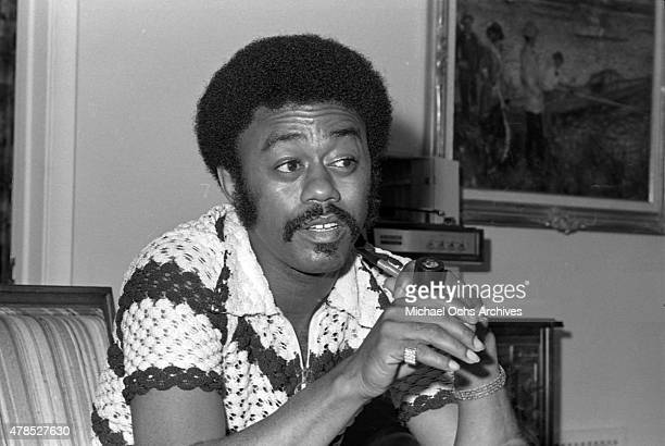 Soul singer Johnnie Taylor poses for a portrait at the Beverly Hills Hotel on July 10 1972 in Los Angeles CA