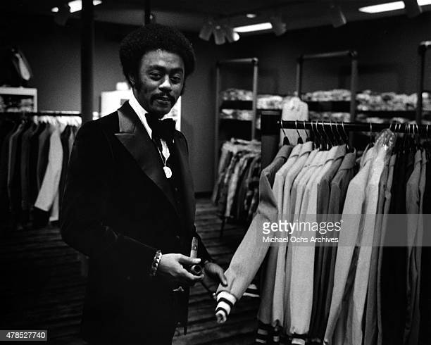 Soul singer Johnnie Taylor poses for a portrait in circa 1974
