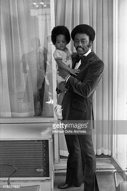 Soul singer Johnnie Taylor poses for a portrait with his daughter on September 29 1973 in Los Angeles CA