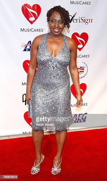 Soul singer Ledisi arrives at the 2008 MusiCares person of the year honoring Aretha Franklin held at the Los Angeles Convention Center on February 8...