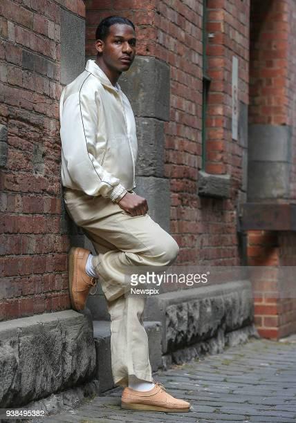 MELBOURNE VIC Soul singer Leon Bridges poses during a photo shoot in Melbourne Victoria