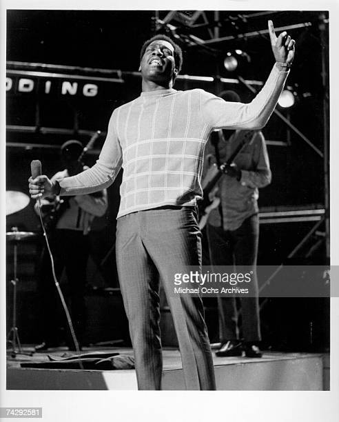 Soul singer Otis Redding performs on the TV show Ready Steady Go in 1966 in London England