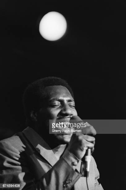 Soul singer Otis Redding performs onstage at the Monterey International Pop Festival on June 17 1967 in Monterey California