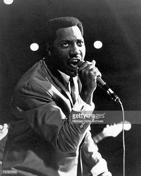 Soul singer Otis Redding performs onstage circa 1968