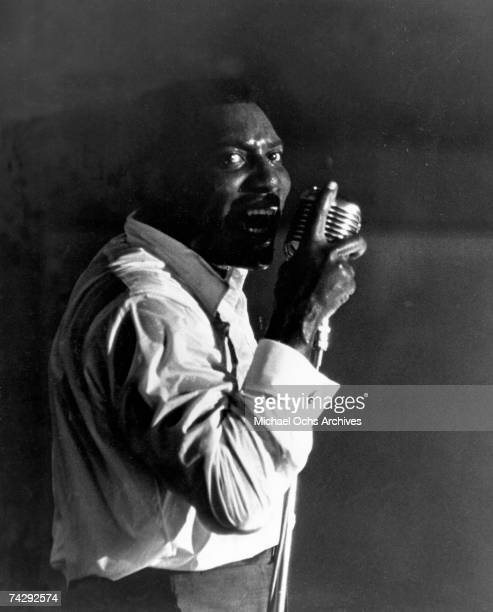 Soul singer Otis Redding performs onstage in 1966