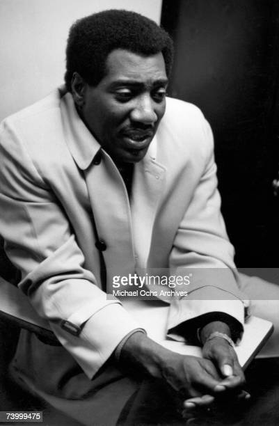 Soul singer Otis Redding relaxes backstage before his performance at Hunter College on January 21 1967 in New York City New York