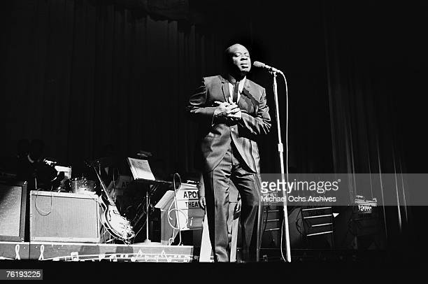 Soul singer Rufus Thomas performs circa mid1964 at the Apollo Theater in Harlem New York