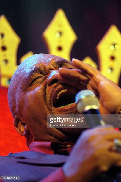 Soul singer Solomon Burke performs live on stage at Paradiso in Amsterdam, Netherlands on September 30 2002