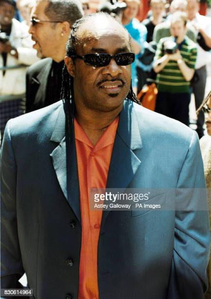 Soul singer Stevie Wonder arrives at The Grosvenor House Hotel in London for the Ivor Novello Awards where rock veterans U2 are battling it out with...
