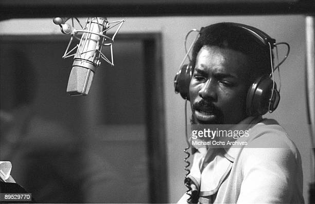 Soul singer Wilson Pickett records at Muscle Shoals Recording Studios on November 24 1969 in Sheffield Alabama