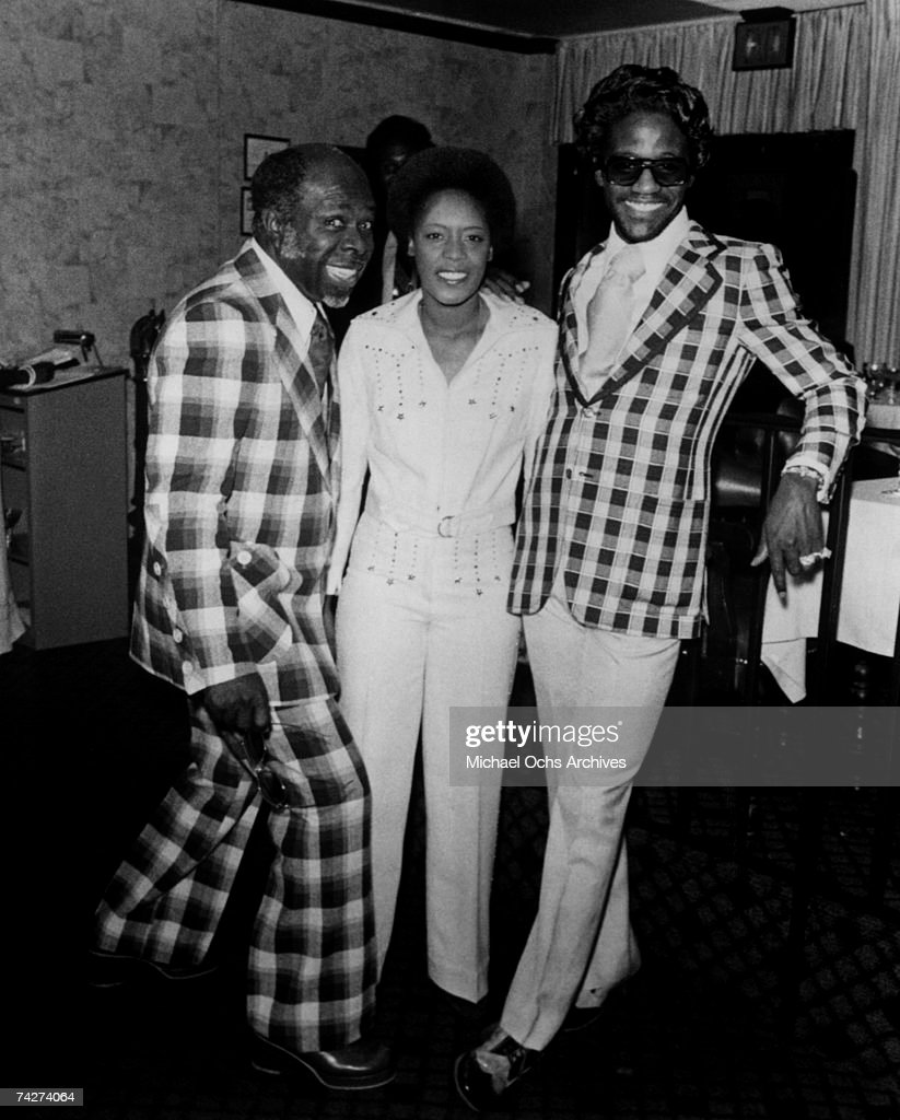 Soul singers Al Green and Rufus Thomas pose for a portrait