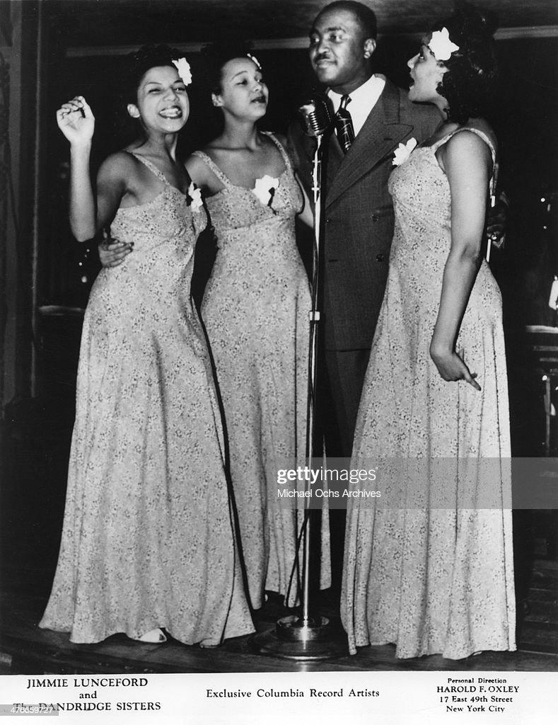 Soul singers Jimmy Lunceford and the Dandridge Sisters