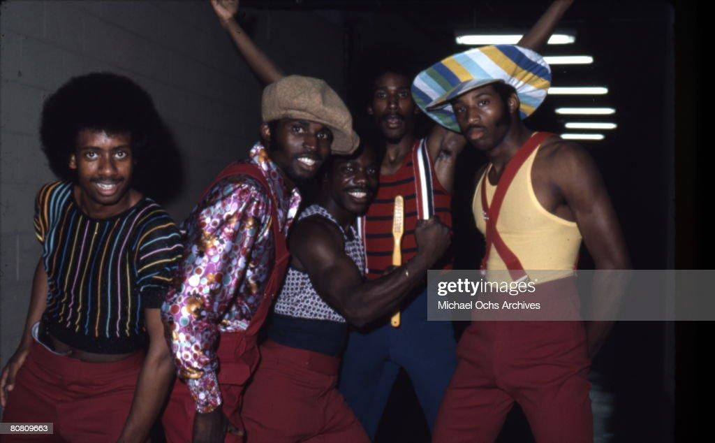 Soul Train dancers in July 1973 in Los Angeles, California.