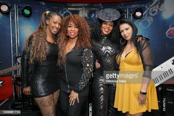 Soul Train dancers Monique Mo'Que Chambers Juliette Hagerman Shelia Lewis and Marie GuevaraBonty at Soul Train Saturday Celebrating The Original Soul...