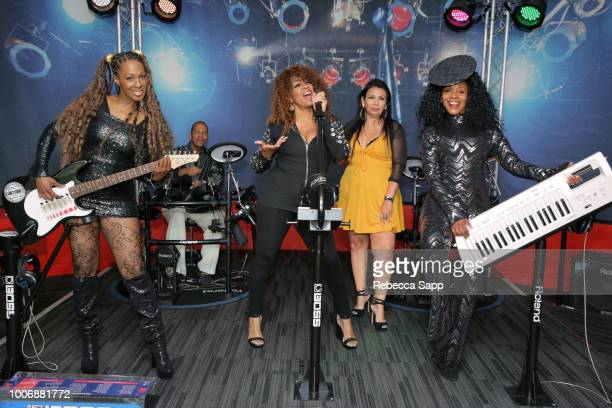 Soul Train dancers Monique Mo'Que Chambers Leland Ferguson Juliette Hagerman Marie GuevaraBonty and Shelia Lewis at Soul Train Saturday Celebrating...