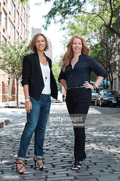 SoulCycle founders Julie Rice and Elizabeth Cutler are photographed for Vanity Fair Magazine on June 29 2012 in New York City PUBLISHED IMAGE
