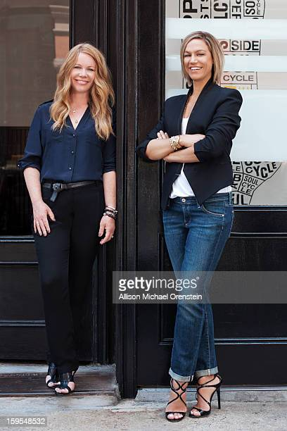 SoulCycle founders Julie Rice and Elizabeth Cutler are photographed for Vanity Fair Magazine on June 29 2012 in New York City