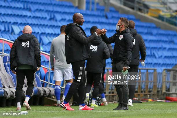 Souleymane Bamba before the Sky Bet Championship match between Cardiff City and Rotherham United at Cardiff City Stadium on May 8, 2021 in Cardiff,...