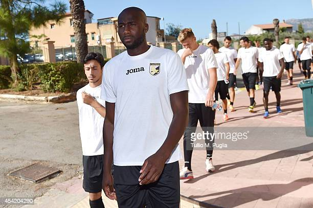 Souleymane Bamba looks on before a Palermo training session at Tenente Onorato sport centre on August 26 2014 in Palermo Italy