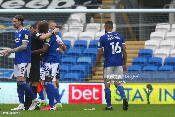 Souleymane Bamba of Cardiff City FC after the Sky Bet Championship match between Cardiff City and Rotherham United at Cardiff City Stadium on May 8,...