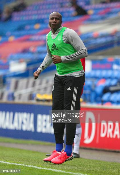 Souleymane Bamba of Cardiff City FC during the Sky Bet Championship match between Cardiff City and Rotherham United at Cardiff City Stadium on May 8,...