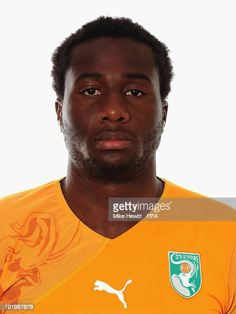 Souleymane Bamba of Ivory Coast poses for a portrait during the 2010 FIFA World Cup on June 11 2010 in Vanderbijlpark South Africa