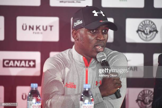 Souleymane CISSOKHO during press conference ahead the fight against Ali Baghouz on December 15 2017 in BoulogneBillancourt France