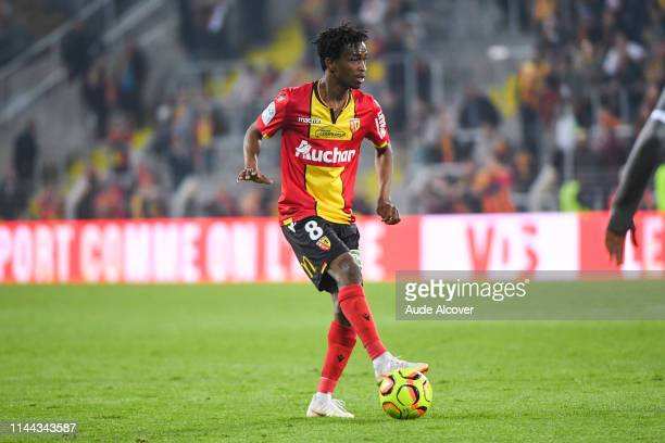 Souleymane Diarra of Lens during the Ligue 2 match between Lens and US Orleans at Stade BollaertDelelis on May 17 2019 in Lens France