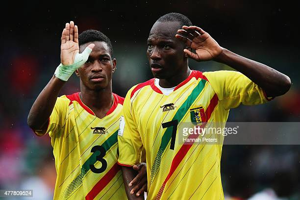 Souleymane Diarra of Mali and Lassine Konate of Mali line up for a free kick during the FIFA U20 World Cup Third Place Playoff match between Senegal...