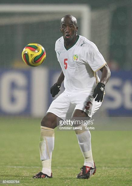 Souleymane Diawara during the CAF 2008 African Cup of Nations Group D match between Senegal and South Africa at the Baba Yara Stadium in Kumasi Ghana...