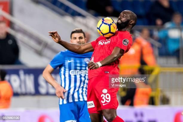 Souleymane Doukara of Antalyaspor AS during the Turkish Spor Toto Super Lig match between Kasimpasa AS and Antalyaspor AS at the Recep Tayyip...