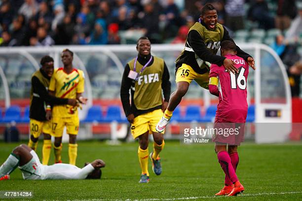 Souleymane Sissoko of Mali celebrates with goal keeper Djigui Diarra following the FIFA U-20 World Cup Third Place Play-off match between Senegal and...