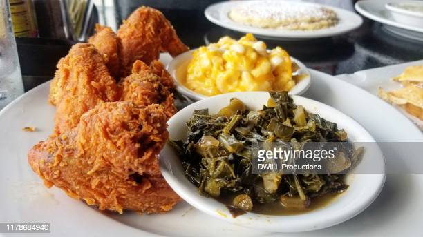 soulfood - poulet frit photos et images de collection