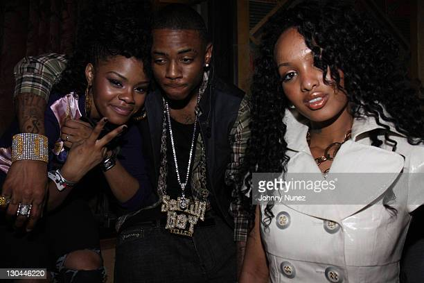 Soulja Boy and Angel Lola Luv attend the Steve Rifkind and SRC Late Night after party in honor of Stephen Hill at Union Station on June 28 2009 in...