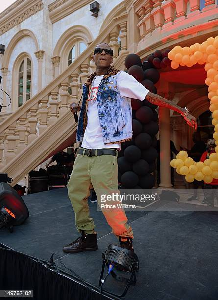 Soulja Boy at the sweet 16 birthday party for Young Jeezy's son Jadarius Jenkins on July 29 2012 in Atlanta Georgia