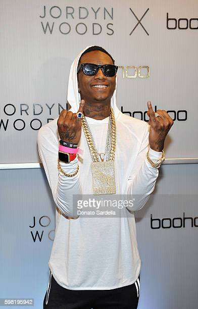 Soulja Boy attends Boohoo X Jordyn Woods Launch Event at NeueHouse Hollywood on August 31 2016 in Los Angeles California