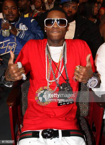 Soulja Boy attends the BET Hip Hop Awards '09 at the Boisfeuillet Jones Atlanta Civic Center on October 10 2009 in Atlanta Georgia