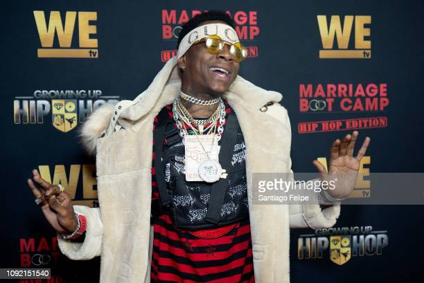 Soulja Boy attends the exclusive premiere for 'WE TV hosts Hip Hop Thursday's at Nightingale on January 09 2019 in West Hollywood California