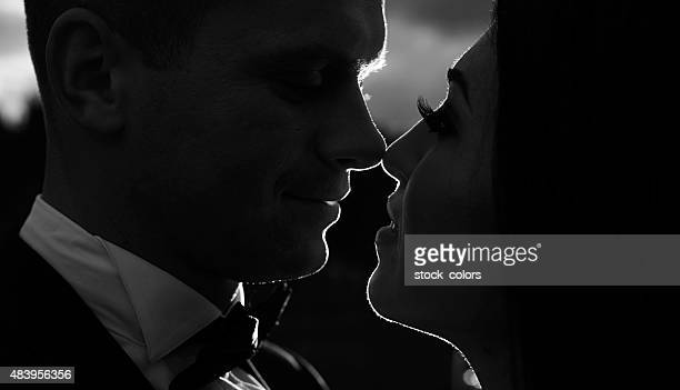 soulmates union - black and white sensual couples stock photos and pictures