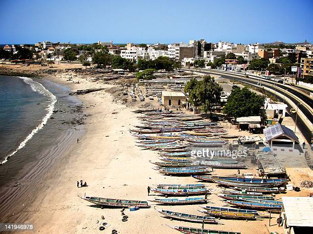 soumbedioune fish market - senegal stock pictures, royalty-free photos & images