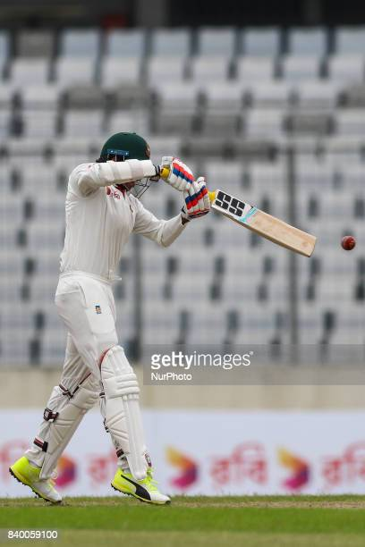 Soumya Sarkar during day one of the First Test match between Bangladesh and Australia at Shere Bangla National Stadium on August 27 2017 in Mirpur...