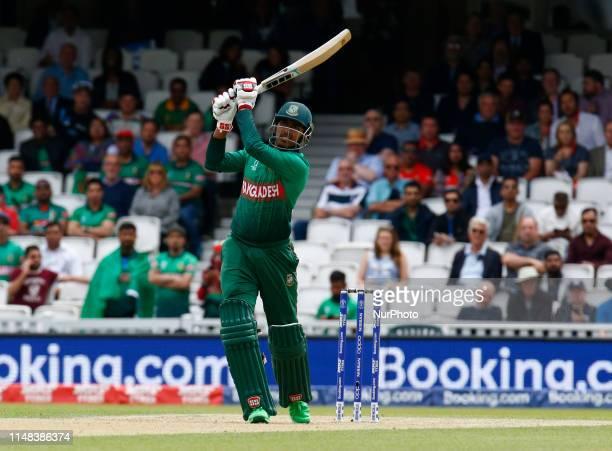 Soumya Sarkar of Bangladesh during ICC Cricket World Cup between Bangladesh and New Zealand at the Oval Stadium on 05 June 2019 in London England