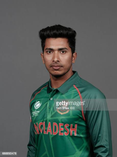 Soumya Sarkar of Bangladesh poses for a picture during the Bangladesh Portrait Session for the ICC Champions Trophy at Grand Hyatt on May 26 2017 in...