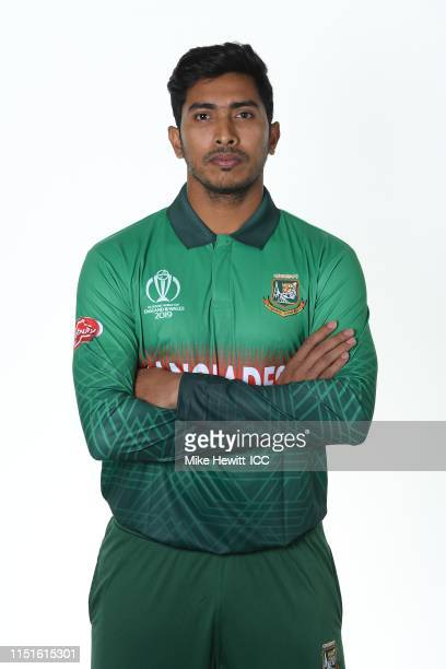 Soumya Sarkar of Bangladesh poses for a portrait prior to the ICC Cricket World Cup 2019 at the Park Plaza Hotel on May 25 2019 in Cardiff Wales