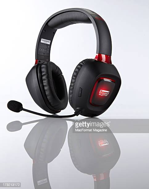 A Sound Blaster Tactic 3D Rage wireless gaming headset photographed during a studio shoot for MacFormat Magazine November 29 2012